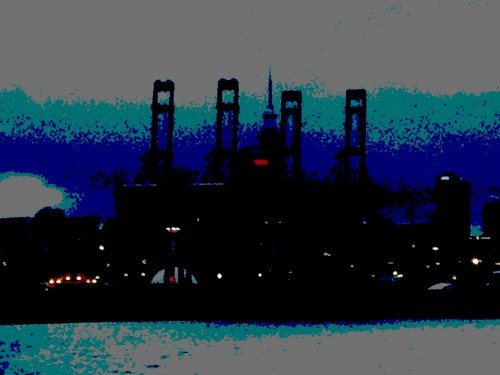 ferry posterized